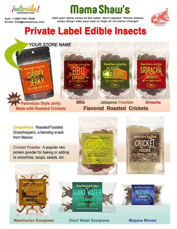 Custom Label Edible Insects